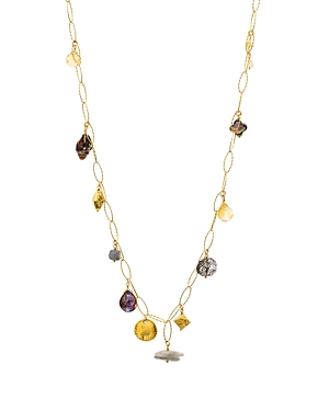 Chan Luu Mixed Stone Dangle Necklace in 18K Gold-Plated Sterling Silver, 36