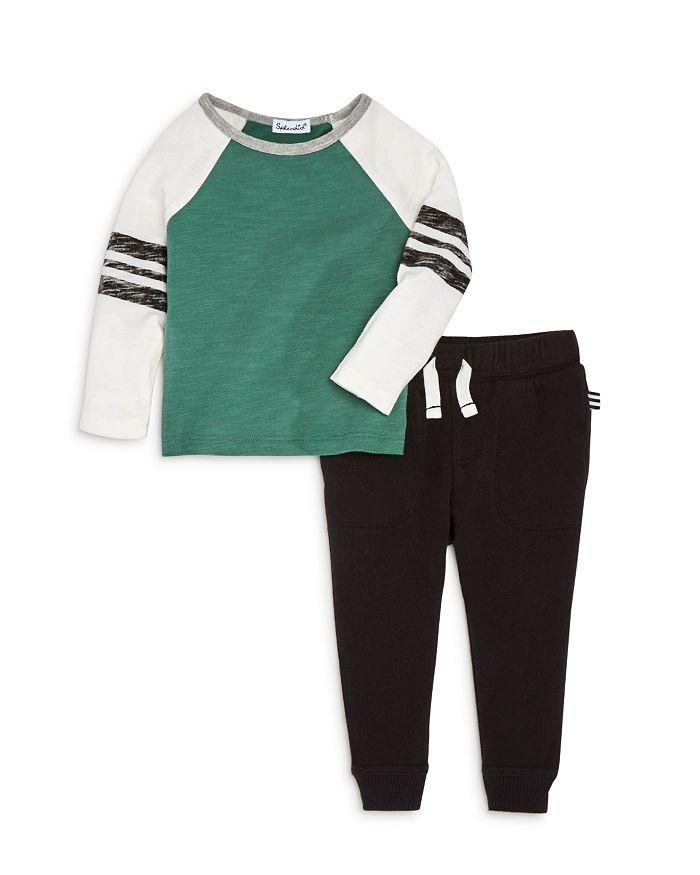 Splendid - Boys' Long Sleeve Raglan Tee & Jogger Pants Set - Baby