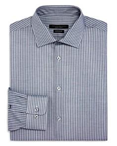 John Varvatos Star USA - Candy-Striped Regular Fit Dress Shirt