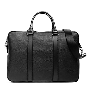 Hook and Albert Pebbled Leather Formal Computer Briefcase