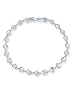 Crislu - Pavé Infinity Tennis Bracelet in 18K Gold-Plated Sterling Silver, 18K Rose Gold-Plated Sterling Silver or Platinum-Plated Sterling Silver