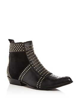 Anine Bing - Women's Charlie Studded Western Pointed-Toe Booties