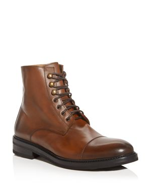 THE MEN'S STORE AT BLOOMINGDALE'S The Men'S Store At Bloomingdale'S Men'S Livorno Leather Cap-Toe Boots - 100% Exclusive in Brown