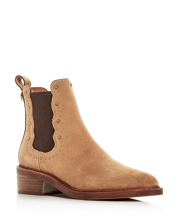 COACH - Women's Bowery Pointed-Toe Block-Heel Booties