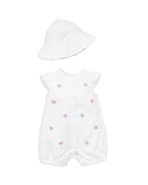 Little Me Girls Wild Butterfly Romper  Sun Hat Set  Baby