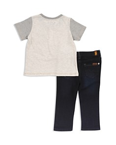 7 For All Mankind - Boys' Short Sleeve Henley Tee & Jeans Set - Baby