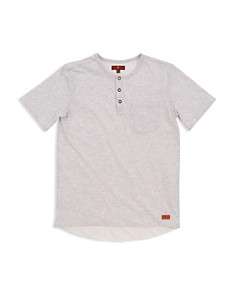7 For All Mankind - Boys' Quarter-Placket Henley Tee - Big Kid