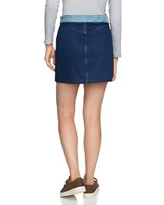 1.STATE - Two-Tone Denim Mini Skirt in Blue Slate Wash