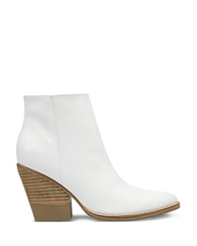 Marc Fisher LTD. - Women's Bellen Stacked-Heel Leather Booties