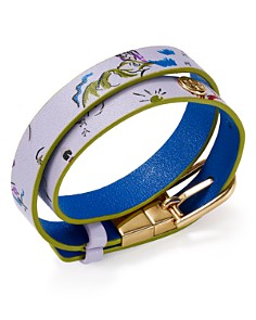 Tory Burch - Printed Reversible Double Wrap Bracelet