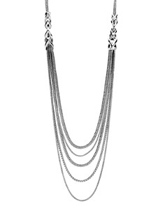 JOHN HARDY - Sterling Silver Classic Chain Link Bib Necklace, 16""