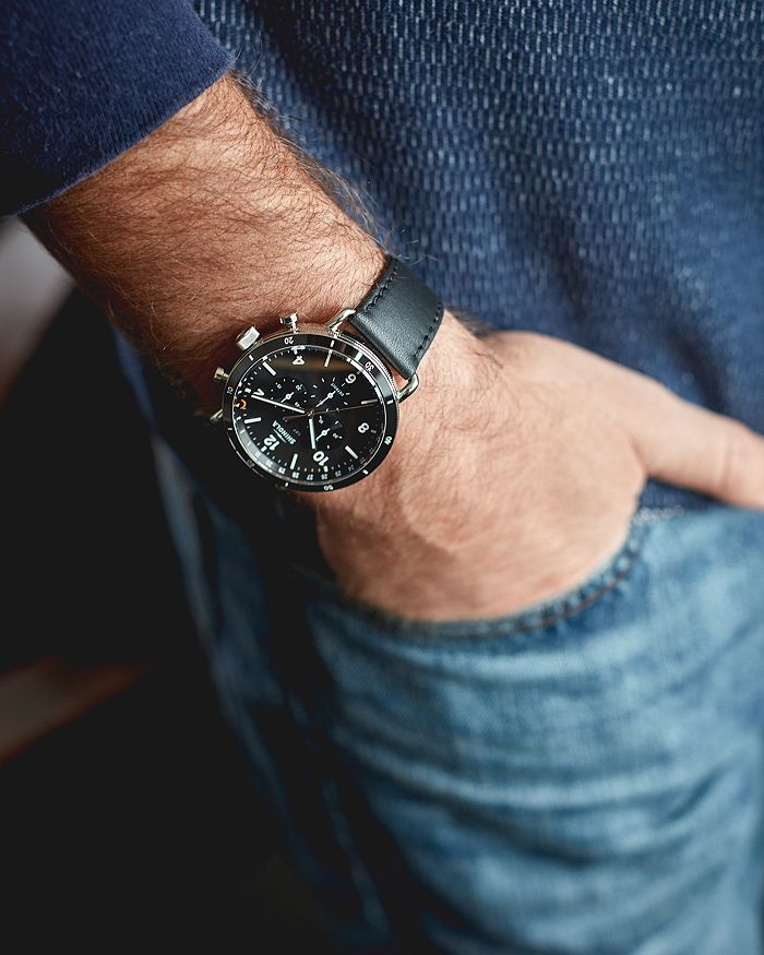 02a510daf Shinola Canfield Black Sport Chronograph, 45mm | Bloomingdale's