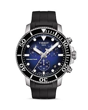Tissot Seastar 1000 Blue-Dial & Black Rubber Strap Chronograph, 45.5mm