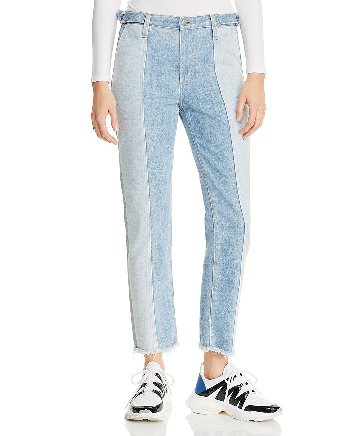 AG - Isabelle Paneled Straight Jeans in Infamous