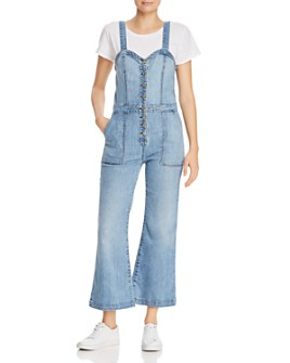 7 For All Mankind - Bustier-Style Denim Jumpsuit in Whitney