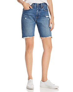Levi's - 501 Slouch Denim Shorts in Drive Me Crazy - 100% Exclusive