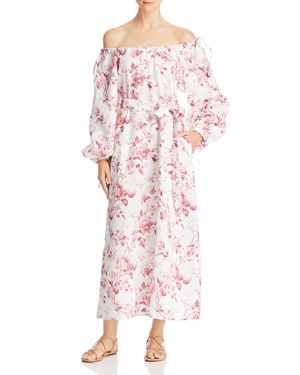 Eleven French Rose Off-the-Shoulder Maxi Dress