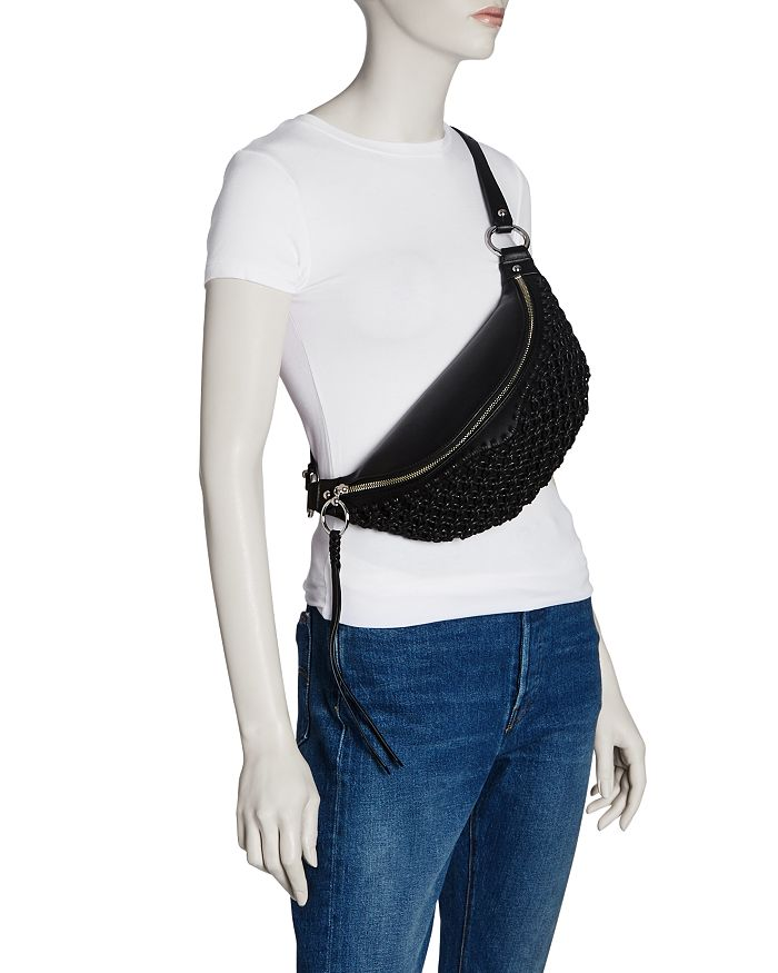749ca6848a9d Rebecca Minkoff Bree Leather Macrame Belt Bag | Bloomingdale's