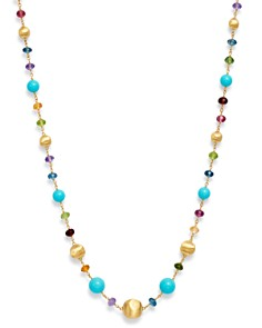 """Marco Bicego - 18K Yellow Gold Gemstone Beaded Collar Necklace, 18"""""""