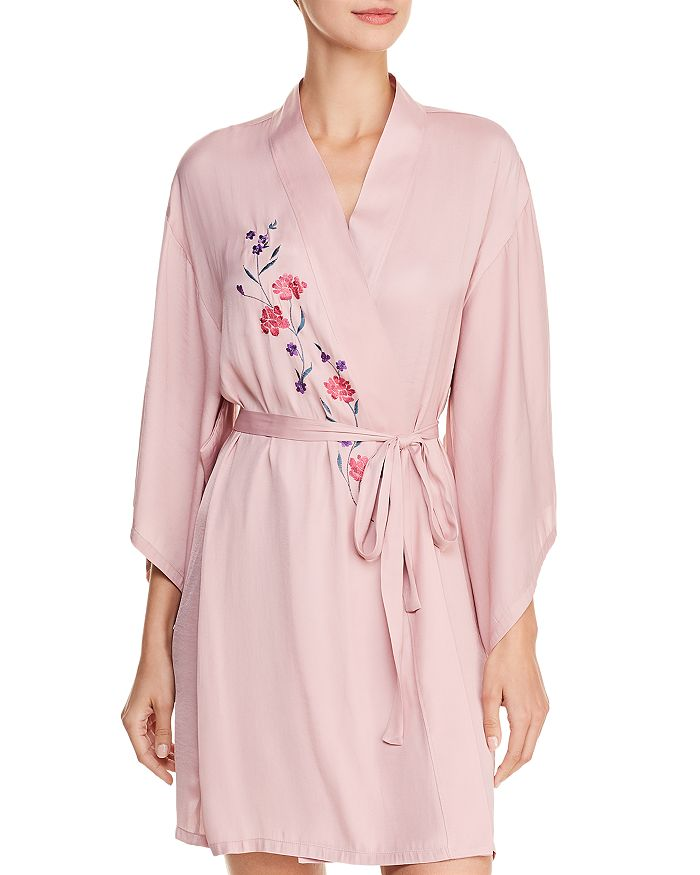 Josie - Washed Satin Embroidered Wrap