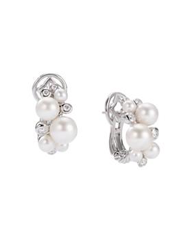 3ca2aed21 David Yurman - Pearl Cluster Earrings with Diamonds ...