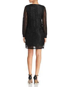 Vero Moda - Shane Textured Metallic Stripe Mini Dress