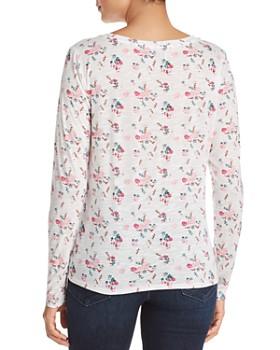 Billy T - Floral Print V-Neck Tee