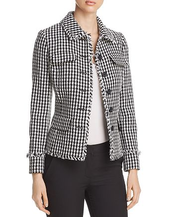 KARL LAGERFELD Paris - Houndsooth Tweed Jacket