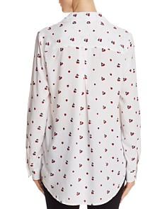 AQUA - Strawberry Button-Down Blouse - 100% Exclusive