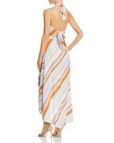 ASTR the Label - Asymmetric Stripe Halter Dress
