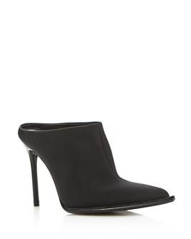 Alexander Wang - Women's Eri Rhinestone Embellished Neoprene High-Heel Mules