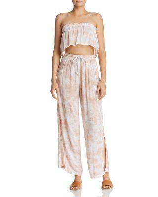 Heatwave Printed Side-Slit Pants