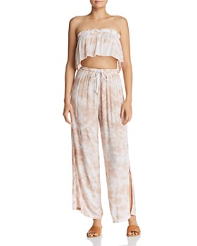 Tiare Hawaii - Flutter Strapless Cropped Top