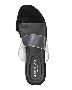 Kenneth Cole - Women's Lizzie Clear & Suede Block Heel Sandals