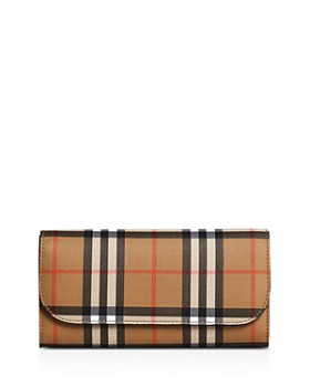 009662f7ad26 Burberry - Vintage Check   Leather Continental Wallet ...