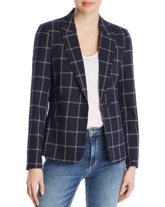 Windowpane Check Print Blazer by Vero Moda