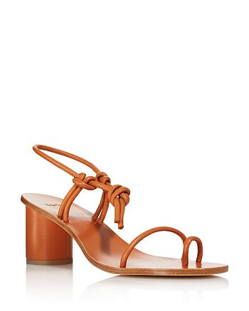 LoQ - Women's Xavi Rounded Block Heel Leather Sandals