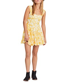 Free People - Dance On The Blacktop Floral Mini Dress