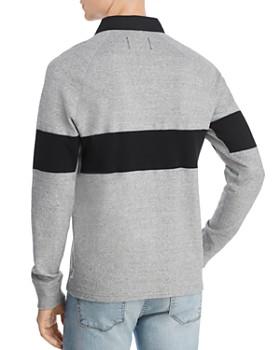 REIGNING CHAMP - Stripe-Trimmed Regular Fit Rugby Shirt