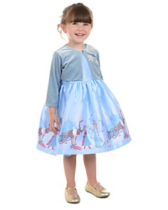 Pippa & Julie - Disney Girls' Frozen Snowflake Bolero Jacket & Fit-and-Flare Dress Set - Little Kid, Big Kid