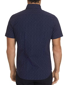 Robert Graham - Toby Short-Sleeve Dotted Dash-Print Classic Fit Shirt - 100% Exclusive