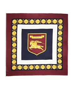 Burberry - Medallion Border Silk Scarf