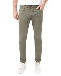 Liverpool - Kingston Slim Straight Fit Jeans in Olive Night