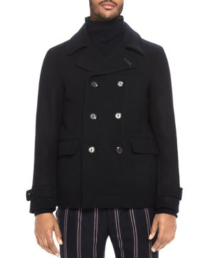 Scotch & Soda Classic Caban Double-Breasted Peacoat