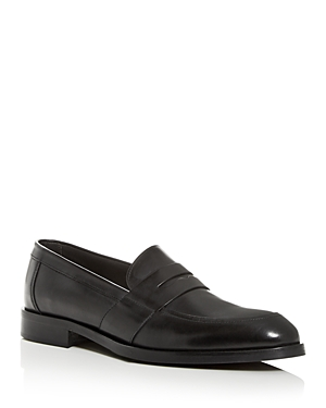 To Boot New York Leathers MEN'S DEVRIES LEATHER APRON-TOE PENNY LOAFERS