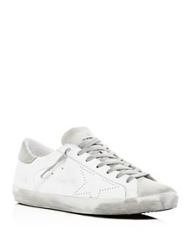 Golden Goose Deluxe Brand - Unisex Superstar Distressed Leather Low-Top Sneakers