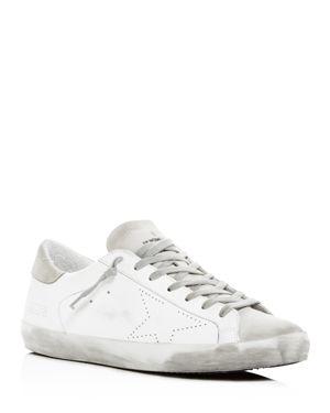 Golden Goose Deluxe Brand Men's Superstar Distressed Leather Low-Top Sneakers