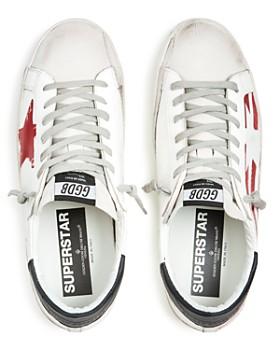 Golden Goose Deluxe Brand - Men's Superstar Flag Leather Low-Top Sneakers