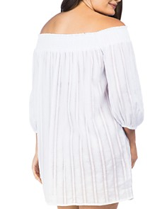 Ralph Lauren - Plus Smocked Tunic Swim Cover-Up