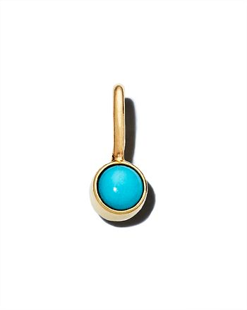 Zoë Chicco - 14K Yellow Gold Turquoise Charm